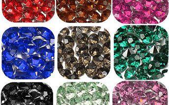 Štrasové kamínky - 200 ks v balení, 10 barev