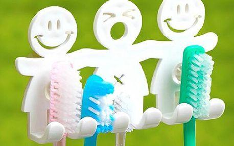 Praktický držák na zubní kartáčky