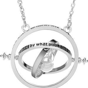 Nadčasový náhrdelník s přesýpacími hodinami - stříbrná - skladovka - poštovné zdarma