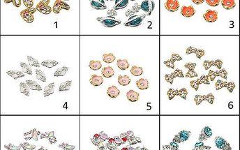 Nalepovací šperky na nehty - různé druhy