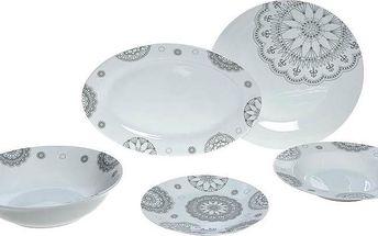 Set porcelánového nádobí Grey Decor, 20 ks - doprava zdarma!