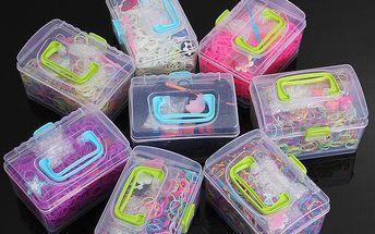 1000 kusů gumiček v praktickém boxu