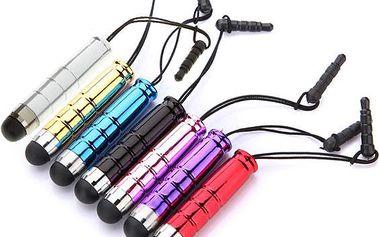 Barevné dotykové pero (stylus) s plastovým trnem - dodání do 2 dnů