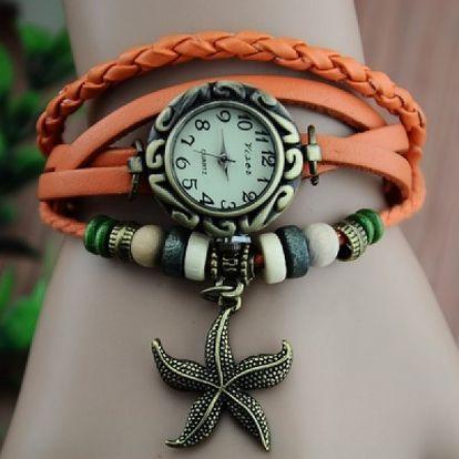 Retro hodinky s hvězdicí