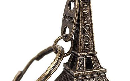 Klíčenka ve tvaru Eiffelovky - 3 barvy
