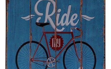 Plechová retro cedule bicykl