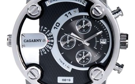 Pánské hodinky s koženým páskem