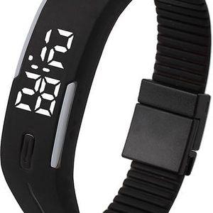 Digitální hodinky s obdélníkovým displejem - mnoho barev