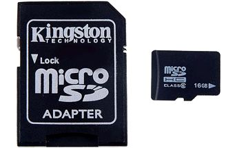 Micro SD karta s adaptérem 16GB