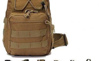 Taktická armádní brašna přes rameno v různých barvách