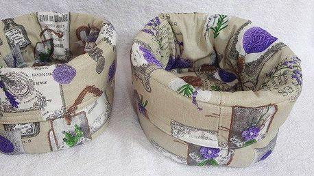 Bavlněný servírovací košík na pečivo v různých motivech