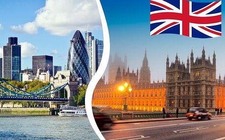 3denní zájezd do Londýna s plavbou po Temži pro jednoho s prohlídkou nejznámějších památek.