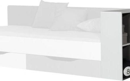 Tablo - regál (grafit/bílá, lesk/atlantic)