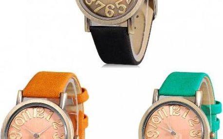 Nadčasové analogové hodinky ve 3 barvách