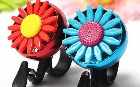 Zvonek na kolo s květinou