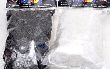 Vroubkované gumičky pro tvorbu náramků - 2 barvy