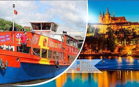 Plavba lodí v poledne nebo večer po Vltavě pro 1 osobu, hudba a bohatý raut - all you can eat