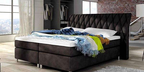 Boxspring postel GLAMOUR 140 x 200