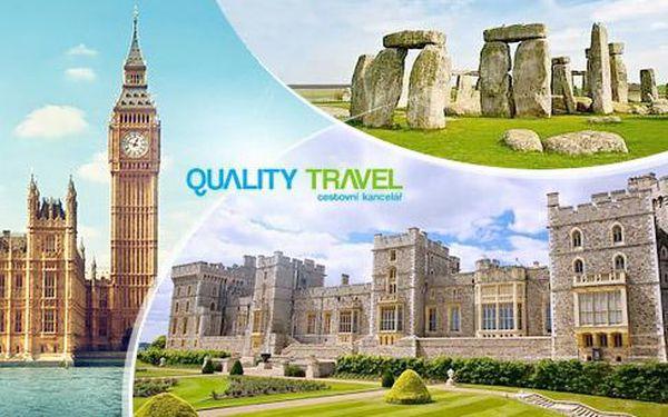 Anglie - Londýn, Oxford, Windsor, Stonehenge na 4/5 dní pro 1. os. + průvodce, ubytování, snídaně