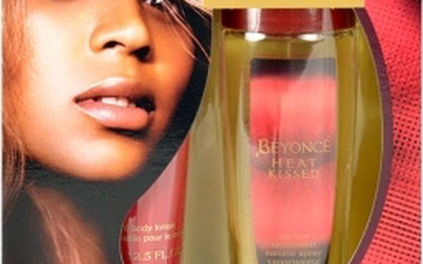 Beyonce Heat Kissed dárková kazeta pro ženy deospray 75 ml + tělové mléko 75 ml