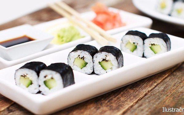 Vegetariánský sushi set s 23 parádními rolkami