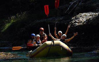 Adrenalinový rafting na řece Salza
