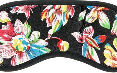 Fashion Icon Maska na spaní černá květiny