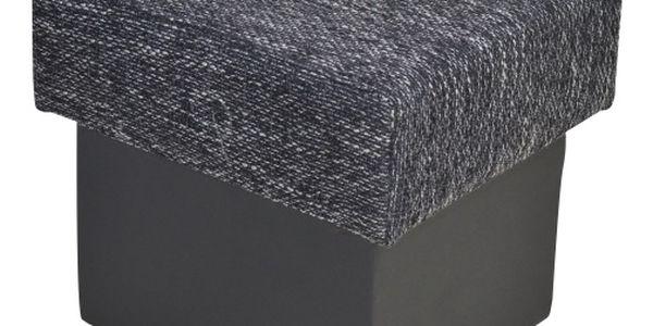 Taburet SANTANA, černá