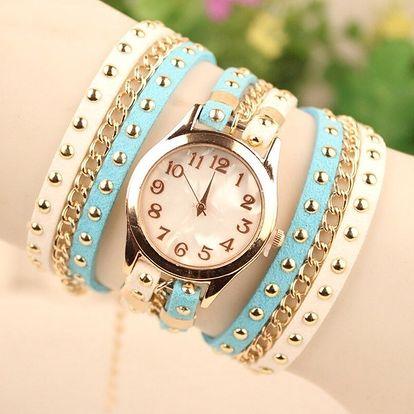 Vícevrstvé hodinky s řetízky