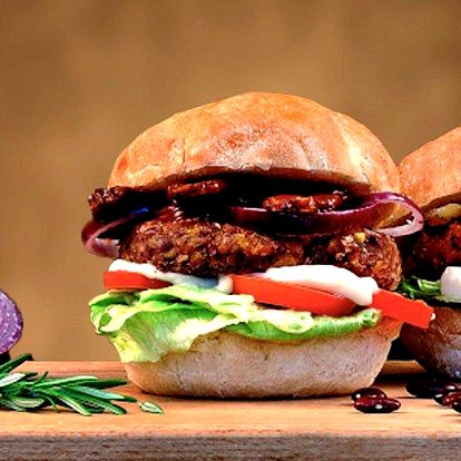 Zdravý a chutný veganský burger