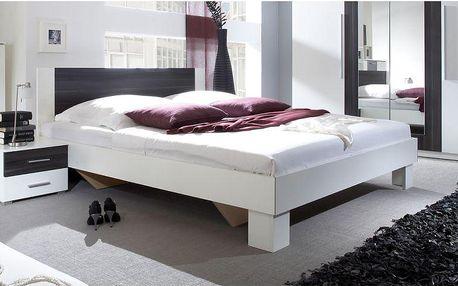 Bílá manželská postel s nočními stolky Veria boc - DOPRAVA ZDARMA!