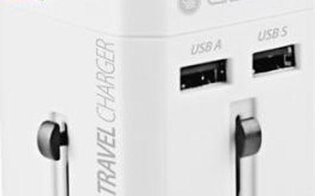 GoGEN pro 150 zemí, 2x USB, bílý (GOGTC163WORLDW)