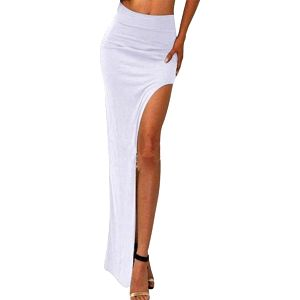 Dlouhá volná sukně s rozparkem