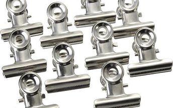 10 kusů kovových klipů