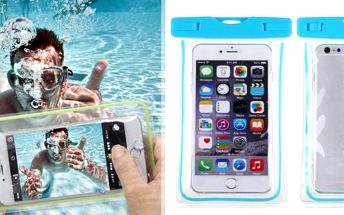 Universální svítící a vodotěsné pouzdro nejen na mobil, pouzdro lze využít také na doklady, peníze a jiné cennosti. Bez tohoto pouzdra se dovolená u moře neobejde. Obal na mobil, se kterým pošlete SMS i z vody. Konečně se nebudete muset obávat o svá elekt
