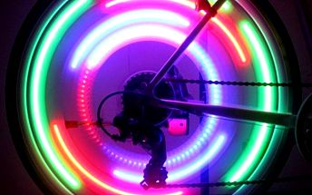 LED světlo na paprsky kola - více barev - poštovné zdarma