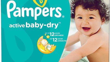 Pampers Active Baby-dry 4 Maxi+, 120 ks (9-16 kg) - jednorázové pleny