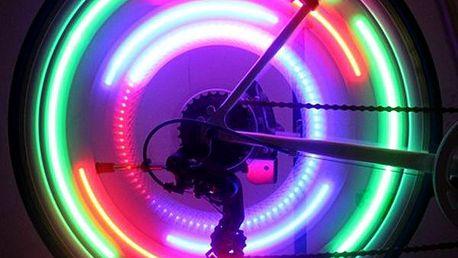 LED světlo na paprsky kola - více barev
