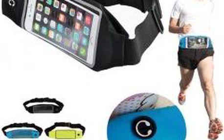 Sportovní pouzdro na telefon lze pohodlně upevnit kolem pasu nastavitelným popruhem, který padne jako ulitý.