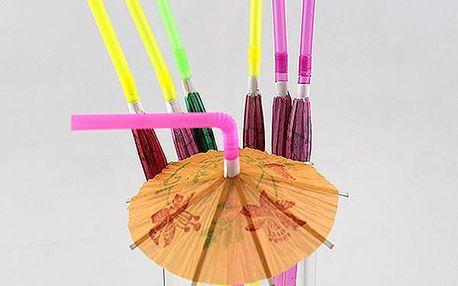 Párty brčka s deštníčky - 10 kusů