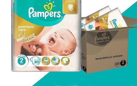 Pampers Premium Care 2 Mini 160 ks (3-6kg) MĚSÍČNÍ ZÁSOBA - jednorázové pleny