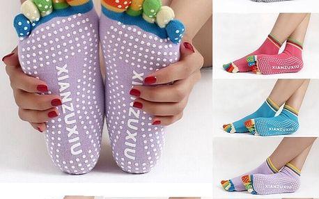 Antiskluzové ponožky na jógu - dodání do 2 dnů