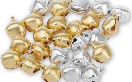 Zlaté a stříbrné rolničky - 120 ks - dodání do 2 dnů