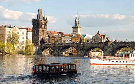 4* hotel v Praze! Komfortní letní pobyt pro 2 osoby se snídaní a plavbou po Vltavě