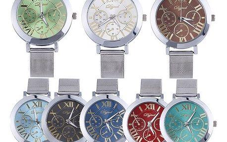 Unisex kovové hodinky v mnoha barvách