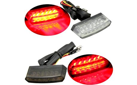 Zadní LED světlo na motorku - 2 barvy