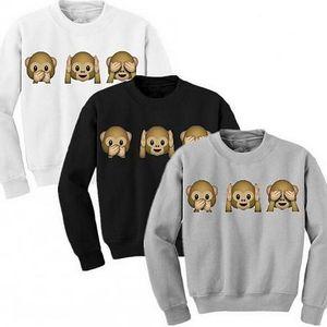 Mikina s potiskem tří moudrých opic