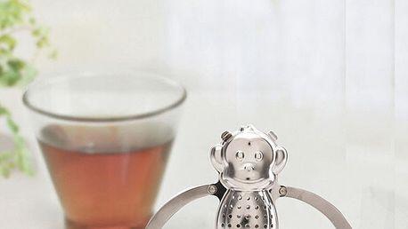 Kovové čajové sítko ve tvaru opice