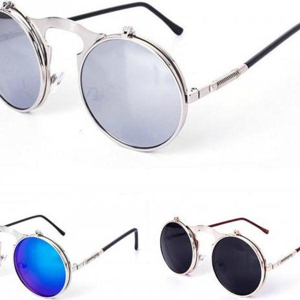 Kulaté sluneční brýle Steampunk