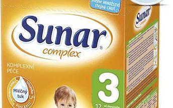 Sunar kojenecké mléko Complex 3 banan, 6x600g